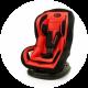 4BABY DRAGON autokrēsliņš (0-18 kg), sarkans (Ir uz vietas)