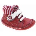 BEPPI ādas apaviņi pašiem mazākajiem (sarkani), 16.izmēriņš